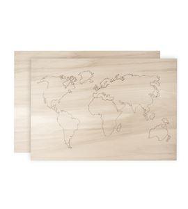 Mapamundi de madera - 62810000