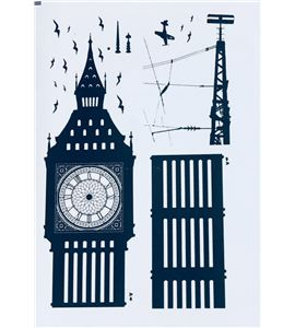 Vinilo de pared - big ben (48 x 32cm) - 22004001