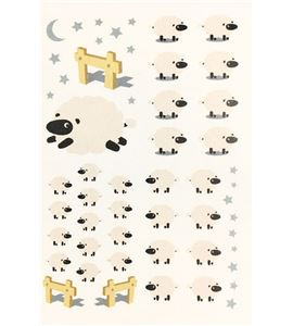 Vinilo de pared - buenas noches ovejitas - 22004006