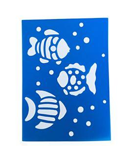 Plantilla / stencil - peces - 7250120007