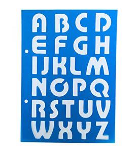 Plantilla / stencil - abecedario mayúsculas - 7250120018