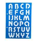 Plantilla / stencil - abecedario mayúsculas