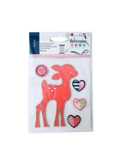 Set de parches bordados adhesivos - bambi - 13063053