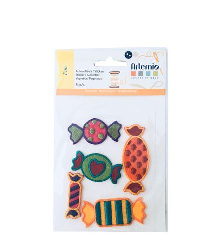 Set de parches bordados adhesivos - caramelos - 13063008