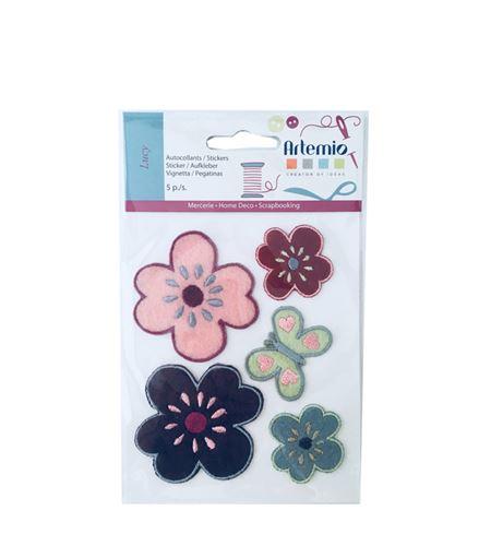 Set de parches bordados adhesivos - primavera - 13063014