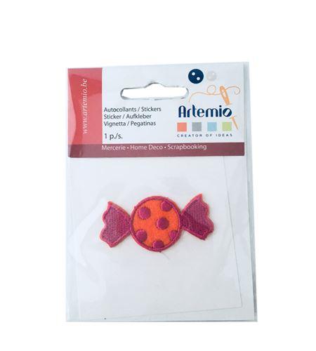 Parche adhesivo bordado - caramelo fucsia - 13063043