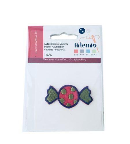 Parche adhesivo bordado - caramelo verde - 13063044