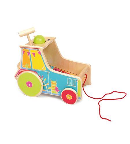 Juguete de motricidad tractor, incl. xilófono - 10377