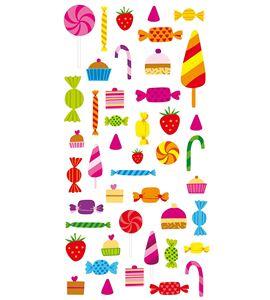 Autoadhesivos 3d caramelos multicolor - 11004126