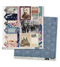 Papel de scrapbook - gaudí azul