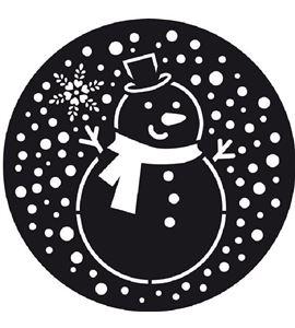Plantilla para decorar tartas - muñeco de nieve - 23002005