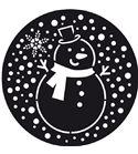 Plantilla para decorar tartas - muñeco de nieve