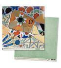 Papel de scrapbook - gaudí verde
