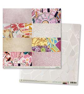 Papel de scrapbook - gaudí blanco perla - TT004 AG14