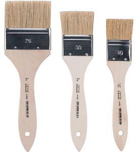 Pincel paletina pelo de cerda blanca china 60mm - AM-576803-806