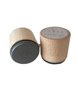 Sello de madera con base de goma - te quiero - 10004123