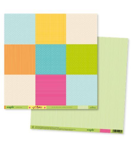 Papel de scrapbook - ecopals multicolor - ECOT005