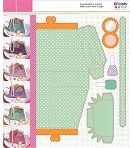 Set de cajitas precortadas para montar - bolso - 14030070