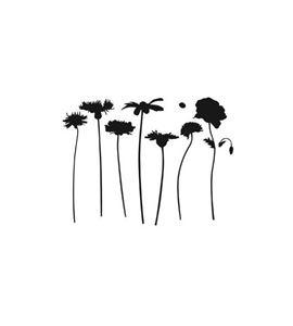 Plantilla / stencil - flores - 15020002-3