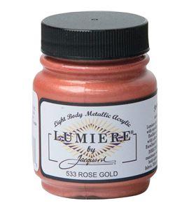Pintura lumiere - rose gold / oro rosado 70 ml. - IJAC1533