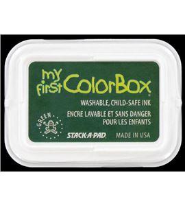 Tampón de tinta my first colorbox - green - CL68003