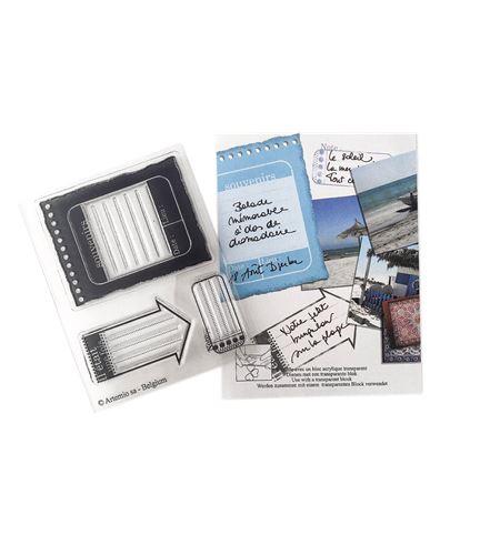 Set de mini sellos transparentes - recordatorios - 10020059
