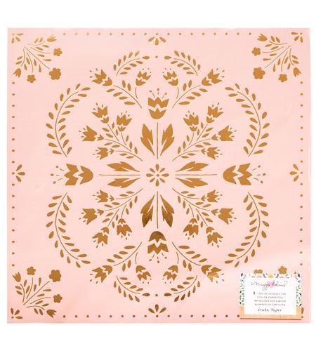 Hoja de papel de scrapbook - willow lane delicate - 344469