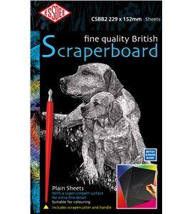 Set de 10 scraperboards - negro - 229x152mm - CSBB2
