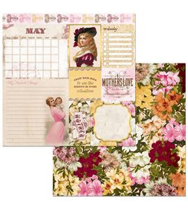 Hoja de papel de scrapbook - may - 7310391