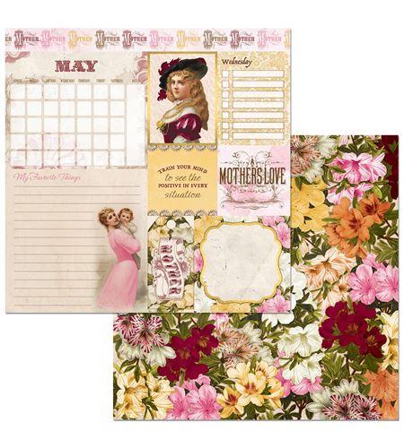 Hoja de papel de scrapbook - may - 7310391