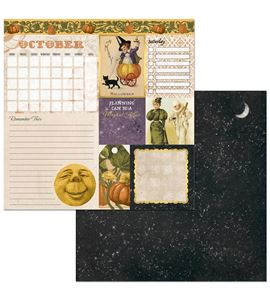 Hoja de papel de scrapbook - october - 7310396