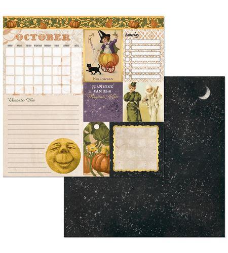 Hoja de papel de scrapbook - october - 7310396