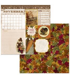 Hoja de papel de scrapbook - november - 7310397
