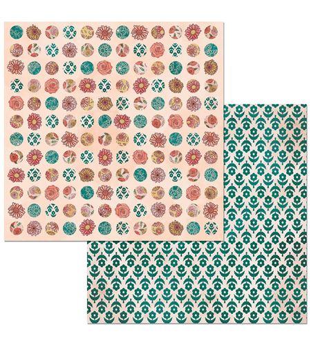 Hoja de papel de scrapbook - lovely - 7310357