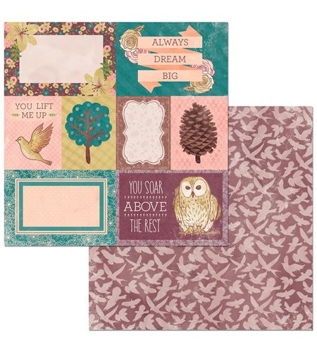 Hoja de papel de scrapbook - take flight - 7310360