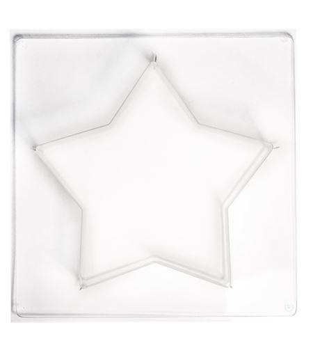 Molde para moldear cemento, jabón, cera - estrella 21,5cm - 36038000