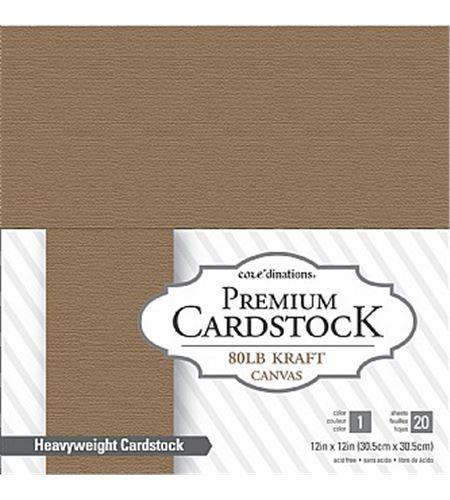 Papel premium cardstock - kraft canvas (20 hojas) - 320240