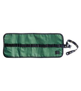 Estuche porta lápices enrollable nilón - verde - AM-348044