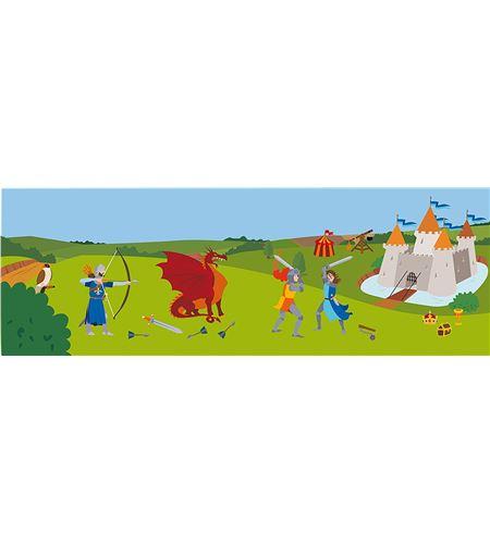 Decoración + autoadhesivos 3d castillo multicolor - 11004168