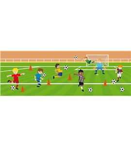 Decoración + autoadhesivos 3d fútbol multicolor - 11004172