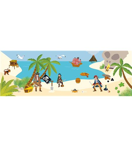 Decoración + autoadhesivos 3d piratas multicolor - 11004177