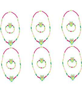 Set de repuesto joyería con lechucitas, verde - 10245