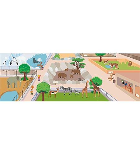 Decoración + autoadhesivos 3d zoo multicolor - 11004182