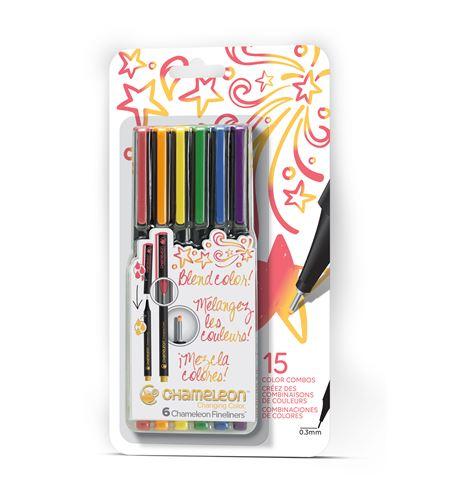 Fineliner 6-pen primary colors set - FL0601NAFRONT