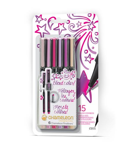 Fineliner 6-pen floral colors set - FL0603NAFRONT