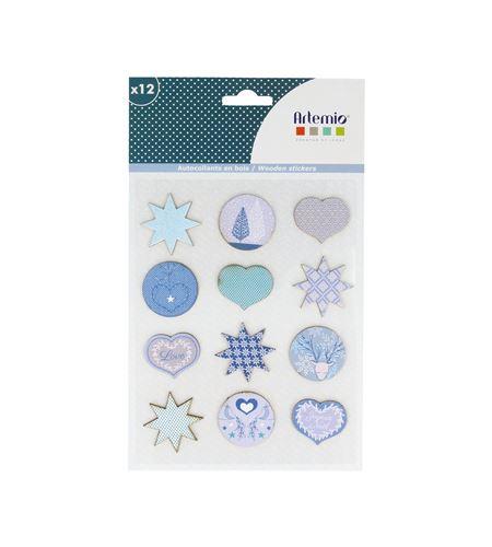 Adhesivos de madera - azul navidad - 14002206