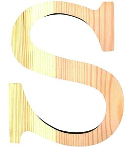 Letra madera pequeña s - 14001099