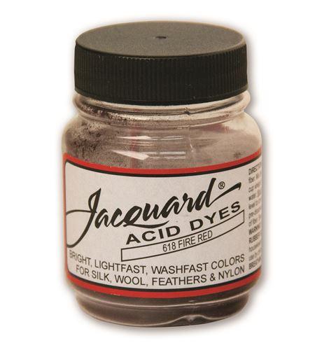Acid dye 14gr. #fire red - JAC1618_ACID DYE-FIRE RED-HALF-OZ_CMYK