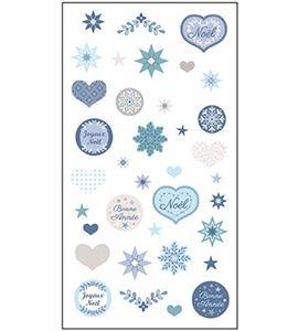 Adhesivos 3d - azul navidad - 11004525