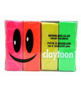 Kit plastilina van aken claytoon neon 453 gr. - 18152 PLASTILINA CLAYTOON NEON